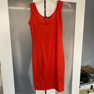 Orange BooHoo body con dress!